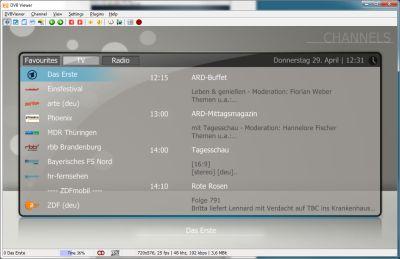 DVBViewer full screenshot