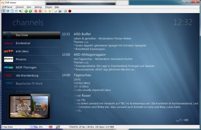 DVBViewer screenshot